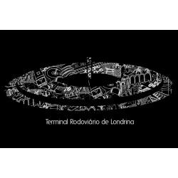 Camiseta de Algodão Rodoviária de Londrina